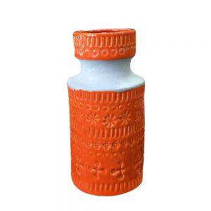 Vaza ceramica Amber portocalie 27cm