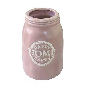 Vaza ceramica Home roz 25cm