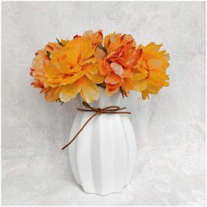 Buchet bujori portocalii Alexis 30cm