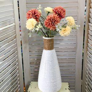 Buchet flori artificiale Clarice somon-crem 30cm