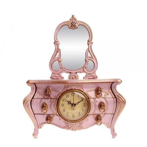 Ceas muzical Victoria roz cutie bijuterii Vintage