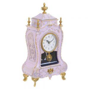 Ceas muzical cu pendul Antique roz 17x9x31cm