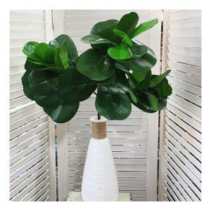 Crenguta frunze ficus artificial Green 45cm