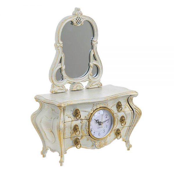 Ceas muzical Victoria bleu cutie bijuterii Vintage
