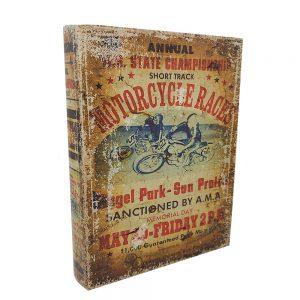 Cutie tip carte Motorcycle 24x30x6.5cm lemn