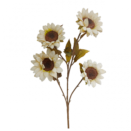 Floarea Soarelui artificiala Cream Sunny 65cm