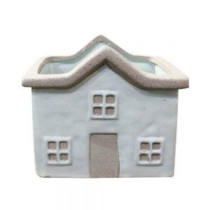 Vas ceramica House 15x10cm ghiveci gri antichizat