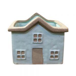 Ghiveci ceramica House bleu 15x10cm vintage