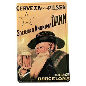 Placa metalica Cerveza Pilsen poster vintage