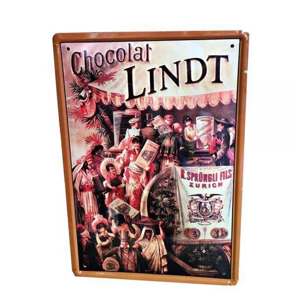 Placa metalica Chocolat poster vintage