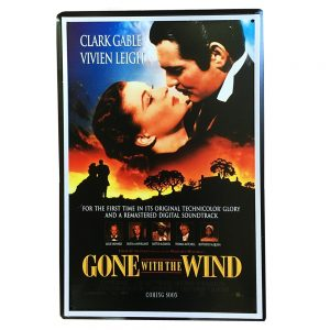 Placa metalica Gone With The Wind