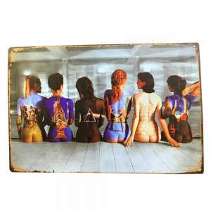 Placa metalica Painted Girls poster vintage