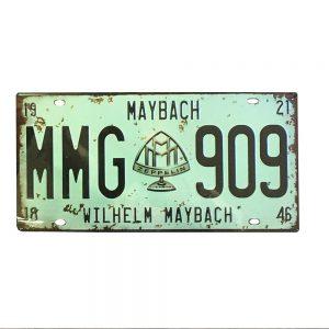 Placa metalica vintage Maybach numar auto