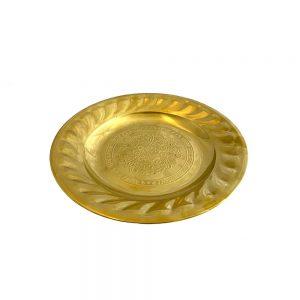 Platou auriu Goldie etajera metal 24cm