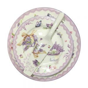 Serviciu desert Lavender portelan 8 piese