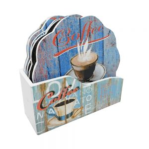 Set suporturi pahare Coffee Time lemn
