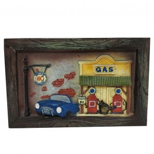 Tablou Gas Station 23x15cm rasina