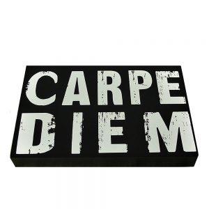 Tablou text Carpe Diem 24x16cm lemn