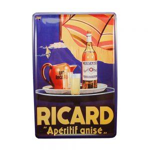 Placa metalica Ricard Aperitif poster vintage