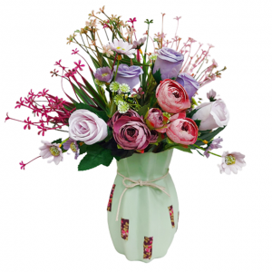 Aranjament flori Laureen 40cm in vaza ceramica