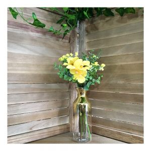 Buchet flori artificiale galbene Delicate 30cm