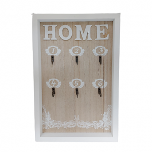 Cuier chei Happy Home maro lemn 20x30cm