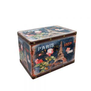 Cutie bijuterii Paris cufar lemn 22x15x15cm