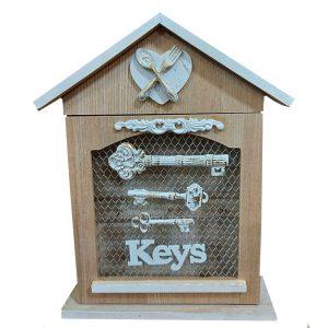 Cutie chei Keys House lemn 21x29cm