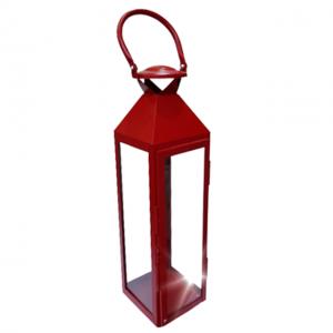 Felinar metal Francois rosu 13x50cm
