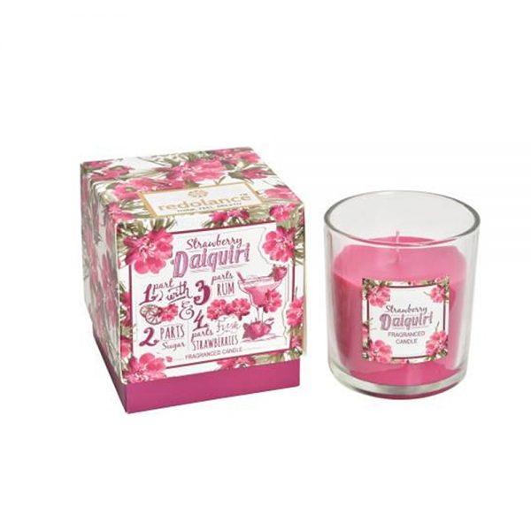 Lumanare parfumata in pahar Luxury Strawberry Daiquiri