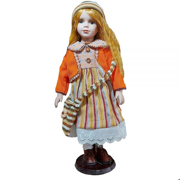 Papusa portelan Gretchen 50cm par blond-roscat