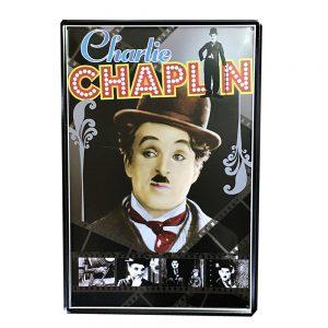 Placa metalica Charlie Chaplin poster vintage