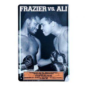 Placa metalica Frazier Vs Ali poster