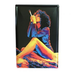 Placa metalica Girl Smoking poster vintage