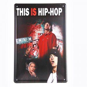 Placa metalica Hip Hop poster vintage