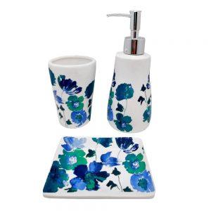 Set accesorii baie Turquoise ceramica