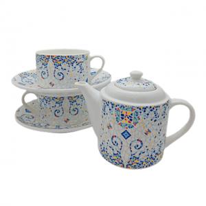 Set ceai Mosaique 5 piese portelan