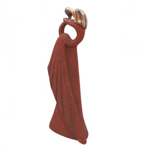Statueta cuplu Coppery Hearts rasina 30cm