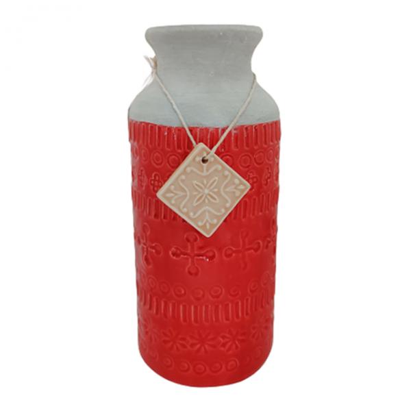 Vaza ceramica Amber rosie 26cm