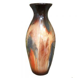Vaza ceramica Denise amfora portocalie 29cm