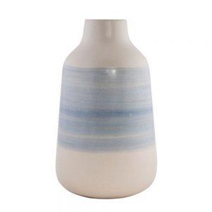 Vaza ceramica Hudson alb-albastru 30cm
