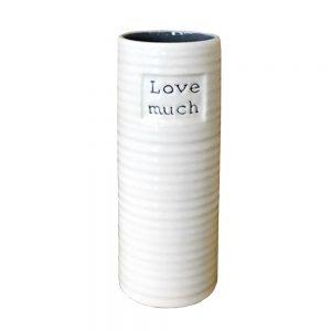 Vaza ceramica alba Alissya 15cm