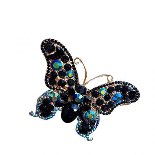 Brosa fluture Irene metal auriu 8cm