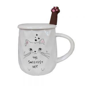 Cana pisica Armand cu capac ceramica