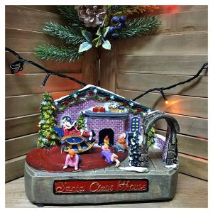 Cutie muzicala LED Santa Claus House