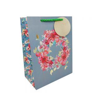 Punga de cadou Flowers 18x24cm