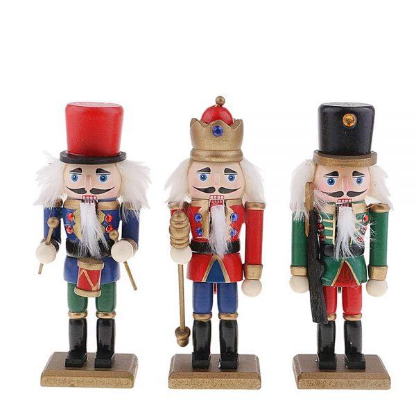 Spargator de nuci Nutcracker 15cm set 3 figurine