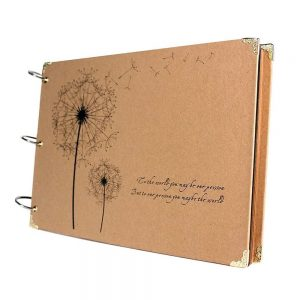 Album foto retro Dandelion scrapbook DIY