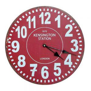 Ceas perete London rosu vintage 30cm