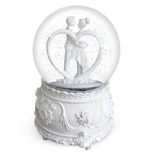 Glob din sticla muzical Lovely Couple